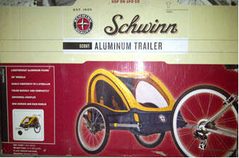 Boxed Schwinn Scout Bicycle Trailer