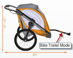 Baby Jogger POD Bike Trailer Mode