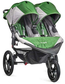 Baby Jogger Summit X3 Double Stroller Green